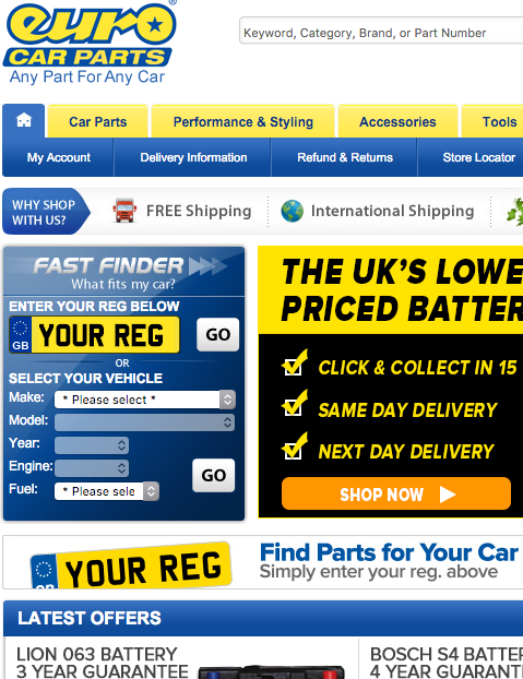 Banner Design for Eurocarparts