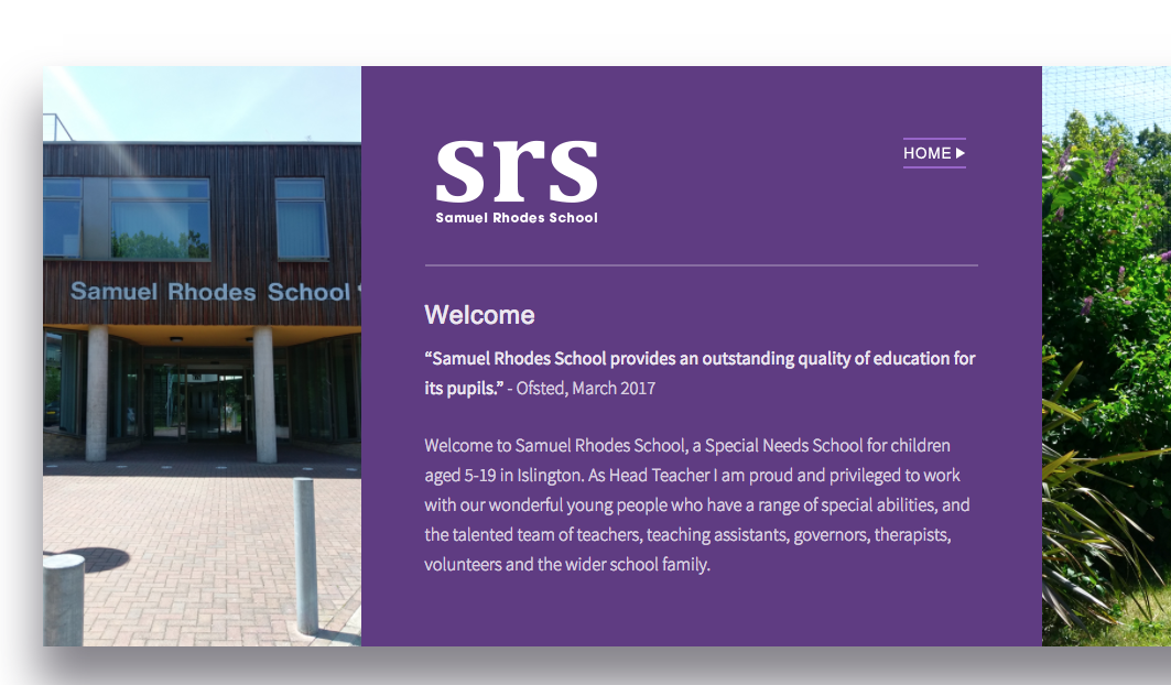 Website design – Samuel Rhodes School